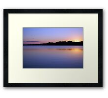 Purple Reflections of Tropical Belize Jungle River Sunset Framed Print