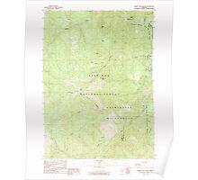 USGS Topo Map Oregon Horse Sign Butte 280248 1989 24000 Poster
