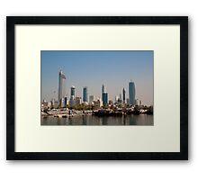 Skyhigh, Kuwait city - Souq Sharq Framed Print