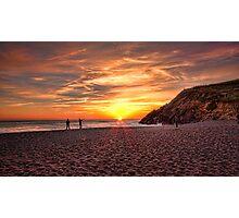 Sunset at Rodeo Beach, Marin Headlands Photographic Print