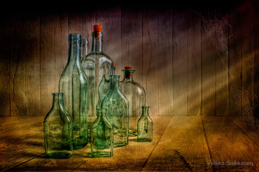 Old bottles by Veikko  Suikkanen