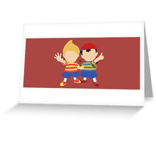 Ness & Lucas (Red) - Super Smash Bros. Greeting Card