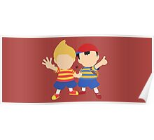 Ness & Lucas (Red) - Super Smash Bros. Poster