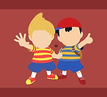 Ness & Lucas (Red) - Super Smash Bros. by samaran