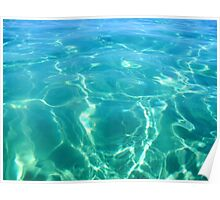Island Ocean Turquoise Blue Aqua Water Ripples Waves Poster