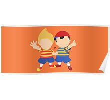Ness & Lucas (Orange) - Super Smash Bros. Poster