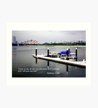 Rest, water marina Art Print