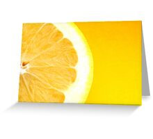 Healthy Fresh Bright Yellow Citrus Grapefruit Slice Greeting Card