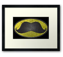 Mustache Man - Funny Comic Hero Icon Framed Print