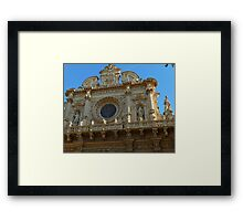 façade of the basilica di Santa Croce Framed Print