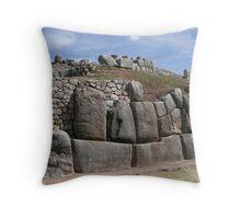 Archaeological complex, Cuzco, Peru Throw Pillow