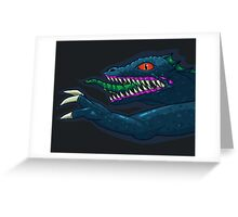 Hyper Caiman Horizontal Greeting Card