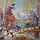 Hallowe'en Comes to Town by David Irvine