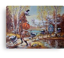Hallowe'en Comes to Town Canvas Print