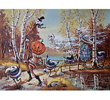 Hallowe'en Comes to Town Photographic Print