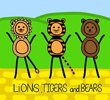 lions tigers and bears by Yentuoc