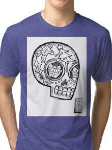 Sugar Xmas Skull Tri-blend T-Shirt