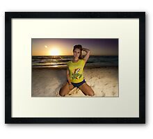 Argh! There be treasure on these shores! Framed Print