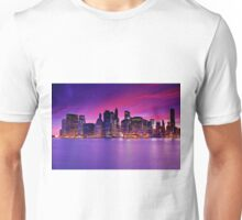 New York City Manhattan Skyline at Night Unisex T-Shirt