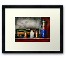 Barber - Things you stare at  Framed Print