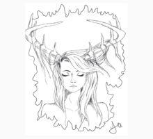 Deer-girl One Piece - Short Sleeve