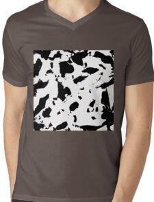 Black & White Pattern  Mens V-Neck T-Shirt