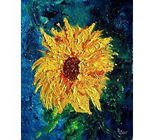 Sunflower - Tribute to Van Gogh Photographic Print