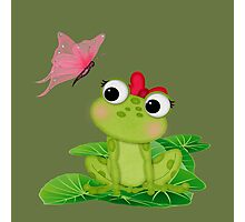 Cute Girl Frog 2 Photographic Print