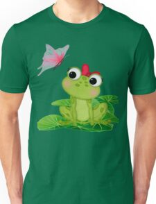 Cute Girl Frog 2 Unisex T-Shirt