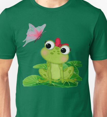 Cute Girl Frog 2 Unisex T-Shirt