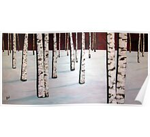 Red over White 30x60 - Acrylic   Poster