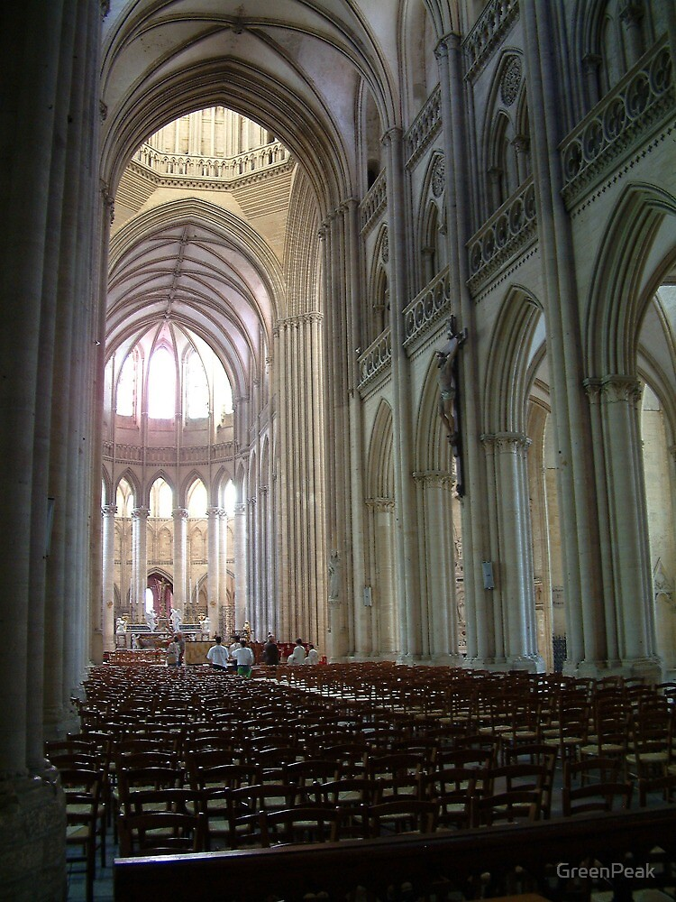 Inside Coutances Cathedral by Paul  Green