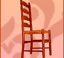 Loteria Card No. 52 ~ The Chair  by Jorge S Jimenez