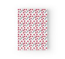 Oriental red berry Hardcover Journal