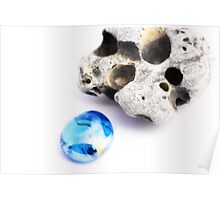 Blue Stone Poster