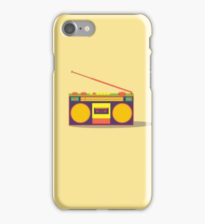 boombox - old cassette - Devices iPhone Case/Skin