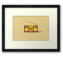 boombox - old cassette - Devices Framed Print