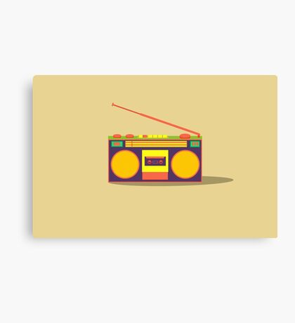 boombox - old cassette - Devices Canvas Print