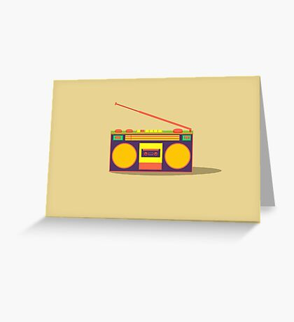 boombox - old cassette - Devices Greeting Card