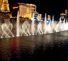 The Bellagio's Dancing Fountain by Mark Prior