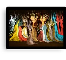 Eclectic Disco in the Psychedelic Forest Canvas Print