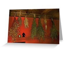 Harvest of Herbs Greeting Card