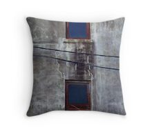 Desolate Wall Throw Pillow