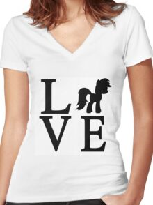 Love My Little Pony Women's Fitted V-Neck T-Shirt