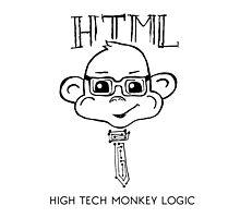 HTML High Tech Monkey Logic funny acronym Photographic Print