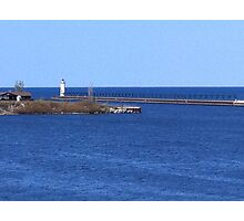 Lighthouse at Lake Michigan Photographic Print
