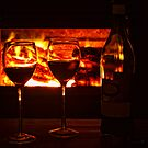 Wine by the fire by Leanne  Kvaternik