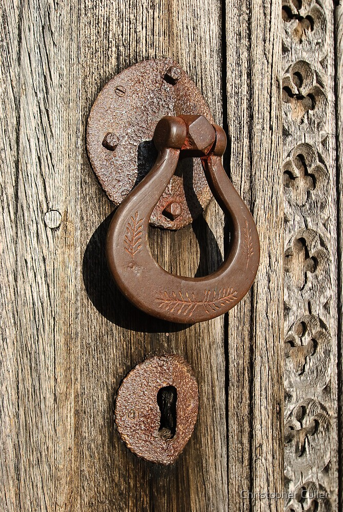 medieval door handle by christopher cullen redbubble