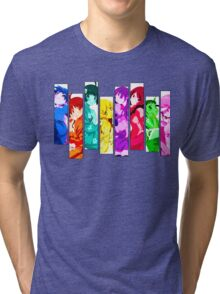 Female Chars from Monogatari Series Tri-blend T-Shirt