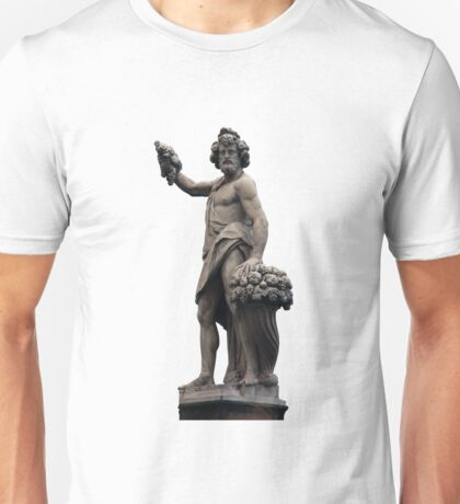 Italian Statue in Florence (isolated) Unisex T-Shirt